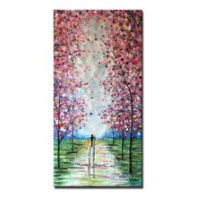 Mintura Large Size Hand Painted Knife Landscape Oil Painting on Canvas Modern Abstract Wall Pictures For Living Room Home Decor(China)