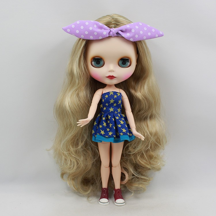 Neo Blythe Doll with Blonde Hair, White Skin, Matte Face & Jointed Body 3