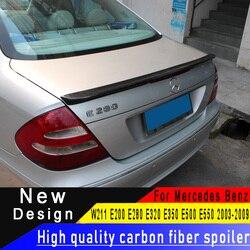 Dla Mercedes-Benz W211 E klasa 4-drzwi salony kosmetyczne 2009 -2013 spojler z włókna węglowego E200 E280 E320 E350 E500 E550 z włókna węglowego tylne skrzydło