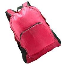 Unisex Outdoor Sports Waterproof Foldable Backpack Hiking Bag Camping Rucksack Rose