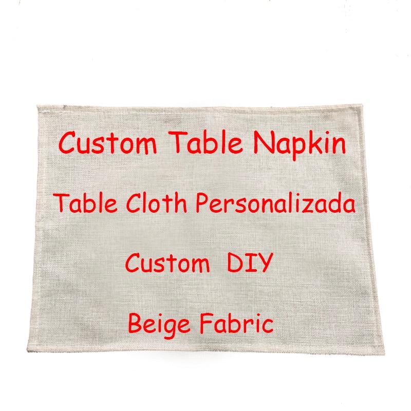 Novel Napkin Dinner Table Cotton Placemat Creative DIY Design Linen Materials Print Customized Living Room Decor For Table Bowl