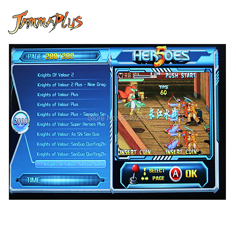 Jamma Plus 2020 in 1 Arcade Game Console Heroes 5 HDMI Joystick Console USB To PC