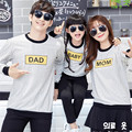 1 Piece Family Clothing 2016 Spring Autumn Korean Style Couples Strpped Dad Mom Kid Long Sleeved Hoodies Family Matching Clothes