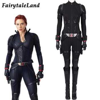 Avengers 4 Endgame Black Widow Cosplay Costume Female Natasha Romanoff Bodysuit Black Widow Jumpsuit full Outfit with boots - DISCOUNT ITEM  17% OFF Novelty & Special Use