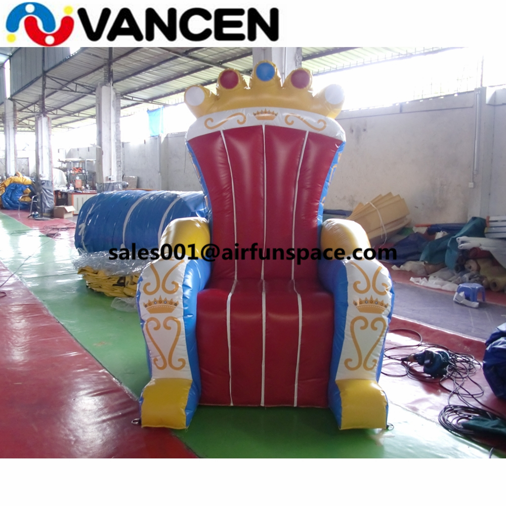 Funny decoration inflatable queen chair 2mH cheap price inflatable party chair thron chair advertising model for sale