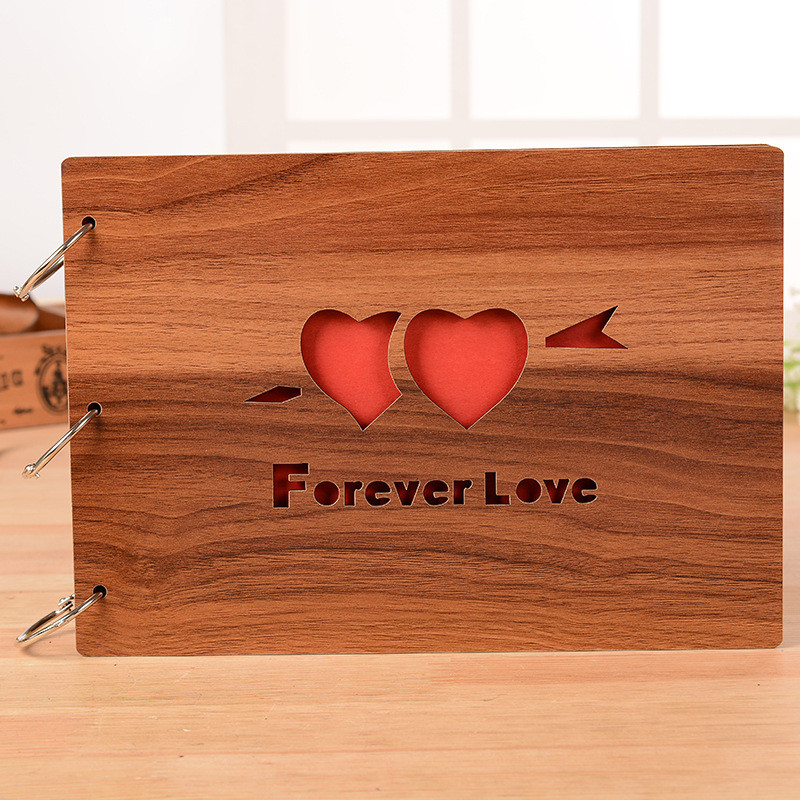 10inch heart love wedding picture frame wooden retro loose leaf album decor frame graduation photo youth album large photo frame