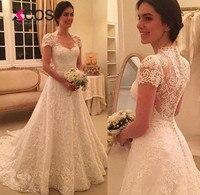 XCOS белое богемное кружевное свадебное платье с открытой спиной и рукавами крылышками, es 2018, большие размеры, свадебное платье трапециевидно