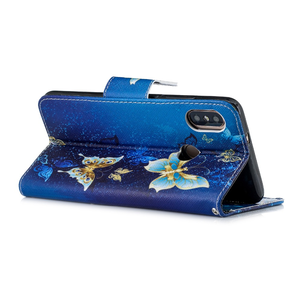 Color Painted Back Cover for Xiaomi Redmi Note 5 Flip Case Card Pocket Funda Business Phone Protective Holster in Flip Cases from Cellphones Telecommunications