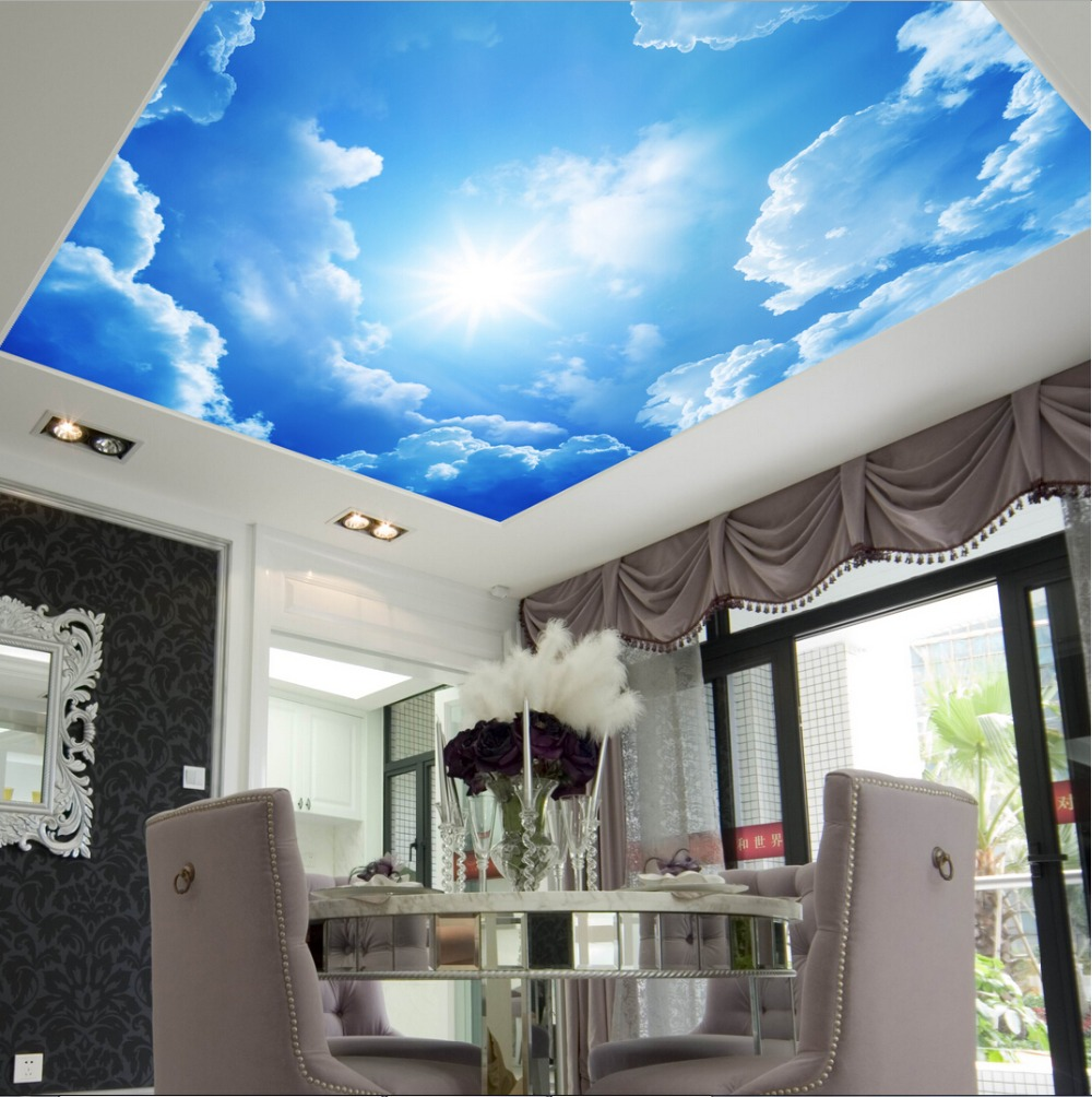 Starry Night Pub And Bar Ceiling Murals Wallpaper Living Room Bedroom  Ceiling Wall Murals In Wallpapers From Home Improvement On Aliexpress.com |  Alibaba ... Part 39