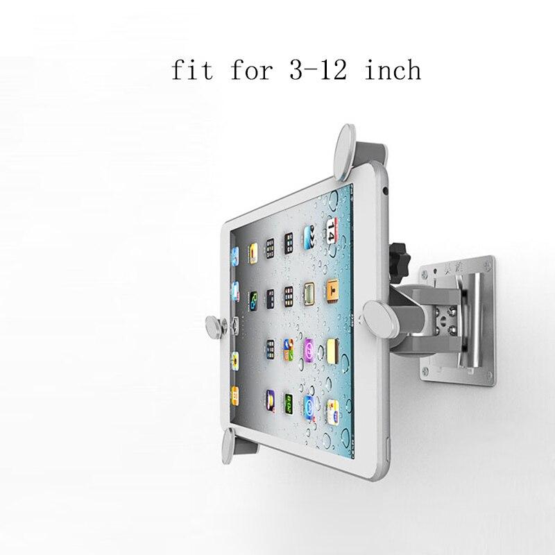 Support mural pour tablette 3-12 pouces support mural universel et réglable support pour iPad 2018 Air 2 Pro 12.9