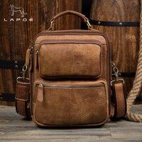 Lapoe Сумки через плечо сумка на молнии Для мужчин Курьерские сумки кожаные модные клапаном Пояса из натуральной кожи сумка Для мужчин
