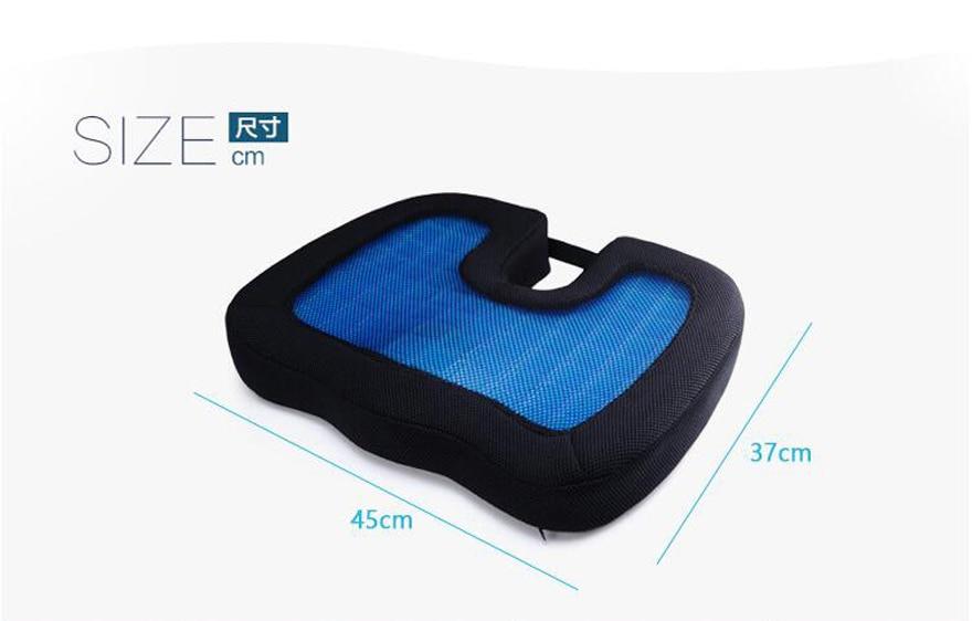 HTB1D00NuY1YBuNjSszhq6AUsFXaX 2019 Quality New Design U-Shape Silicone Gel Coccyx Protect Memory Foam Summer Cool Seat Office/Chair /Car/ Wheelchair Cushion