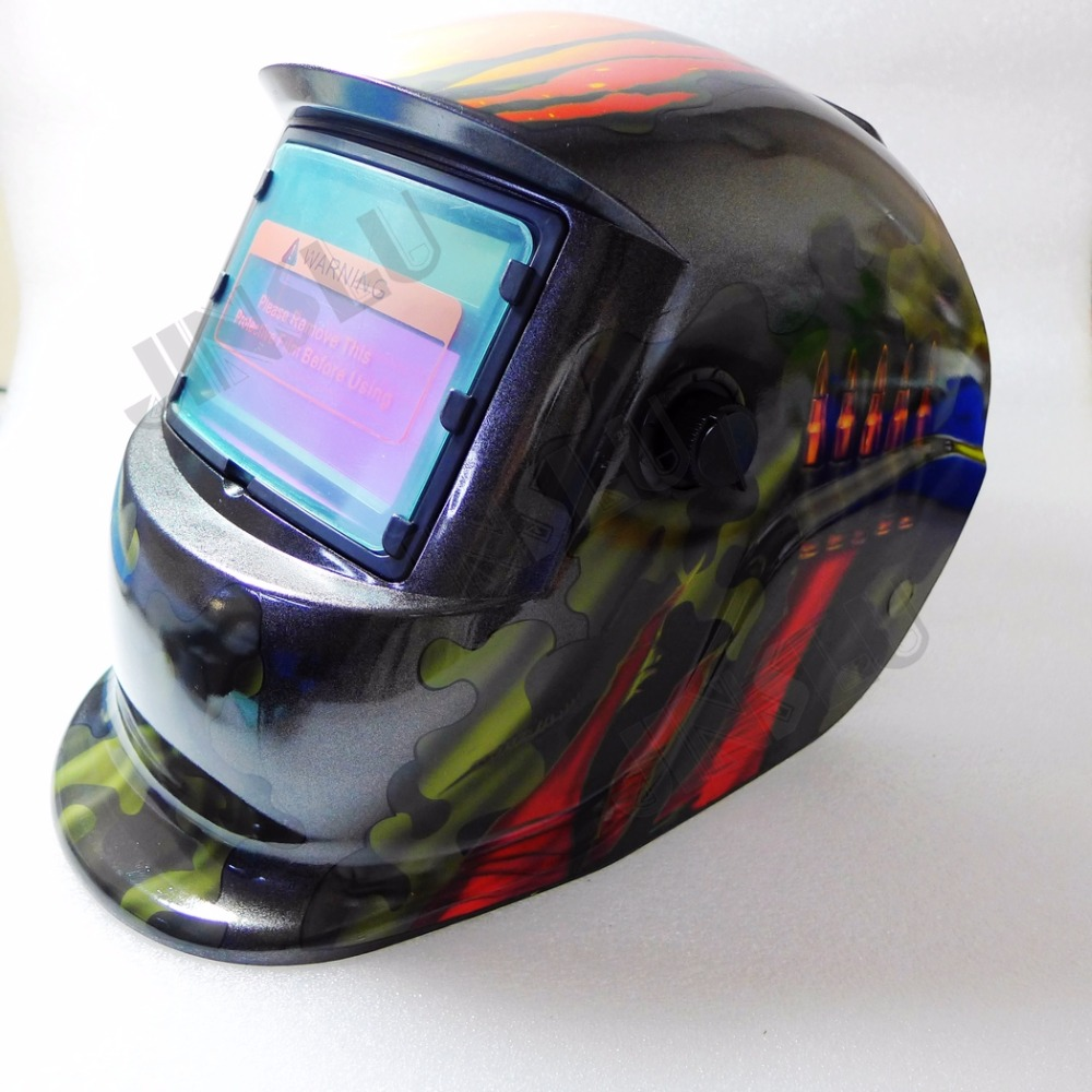 Free shipping KM-1600 Welding Helmet Solar Power Auto Darkening Welder Mask welding helmet welder cap for welding equipment chrome for free post