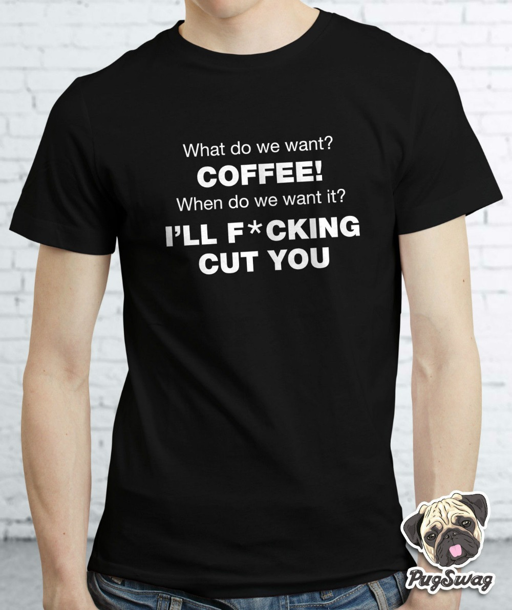 Coffee Addict Funny Cool Text T shirt Tshirt Tee Designer Gift ...
