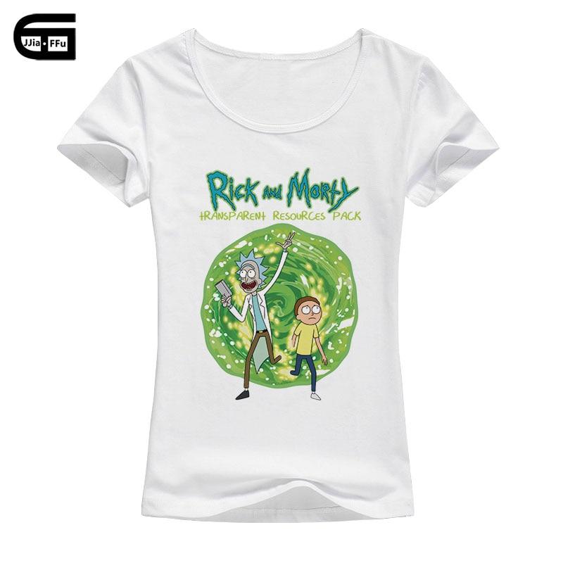 Rick and Morty T Shirts Women's Summer Animated Cartoon Funny Cotton Printed TeesWemen for Sweet Cute kawaii Tops  B102