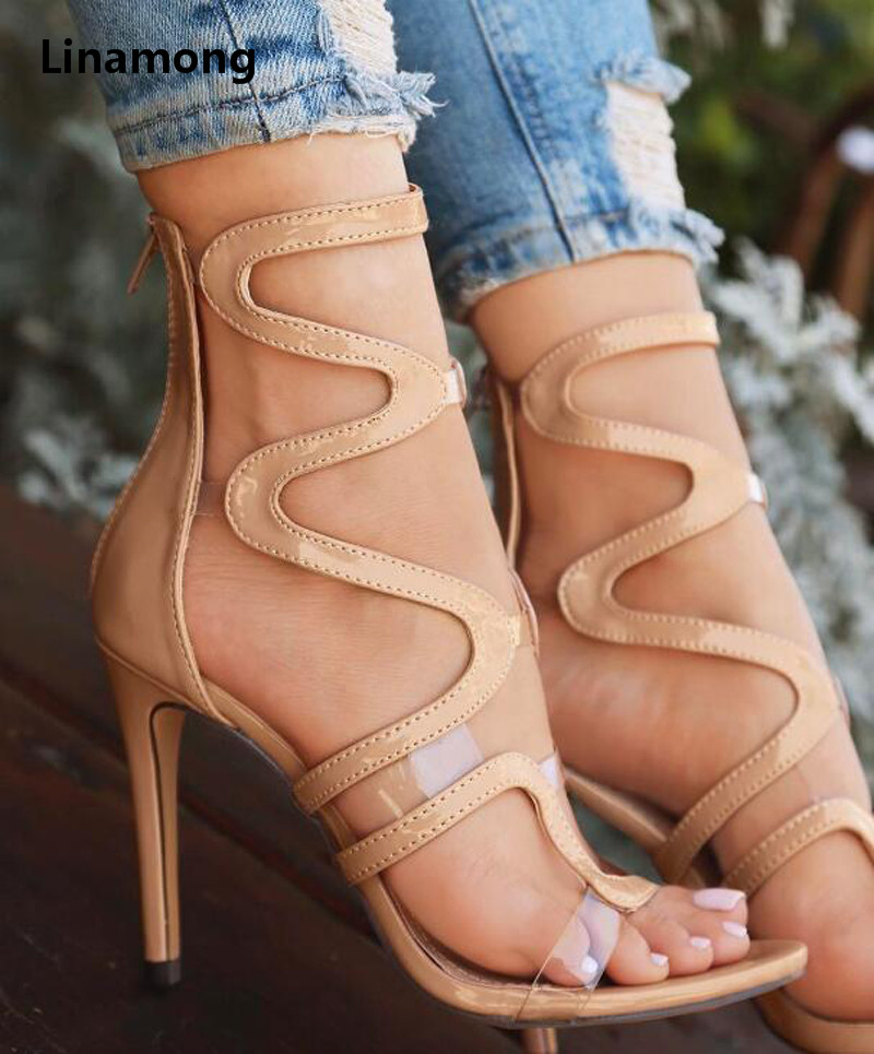 Summer New Fashion Women PU thin Heel Snake stripe Sandals Sequins Bordered High Heel Sandals мультиварка marta mt 4309 900 вт 5 л белый серебристый