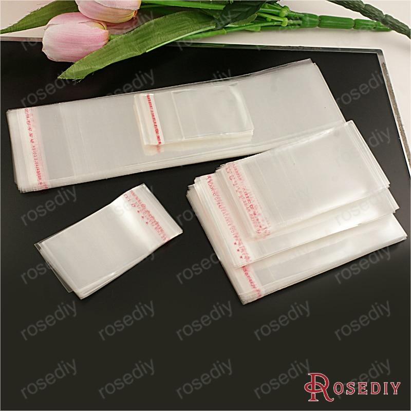 (8187) 100 Pcs Schmuck Kunststoff Taschen Transparente Kunststoffe Verpackung Taschen