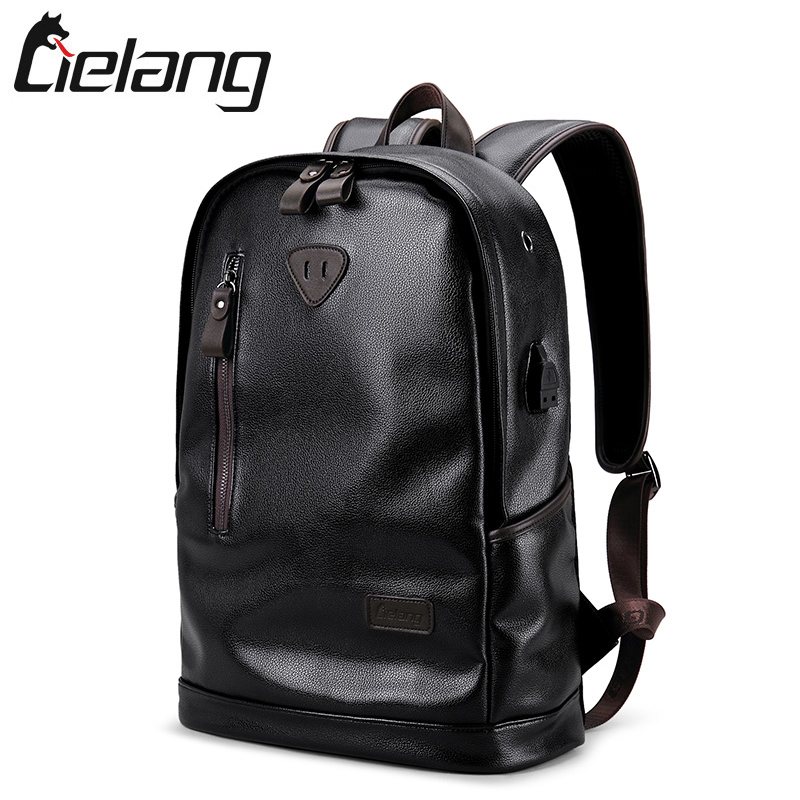 LIELANG Brand Men Backpack Leather Male Functional bags Men Waterproof backpack PU big capacity Men Bag School Bags For Teenager mona liza mona liza 240 260