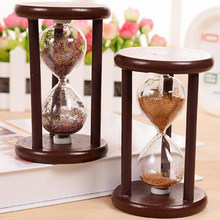 DIY Vintage Hourglass Craft Antique Style Ancient Hourglass Ampulheta Home Furnishing Gift Table Decoration Brushing Wood Timer(China)