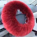 Cover On The Steering Wheel Long Wool Plush Purple Black Steering Wheel Cover Woolen Winter Car Accessory
