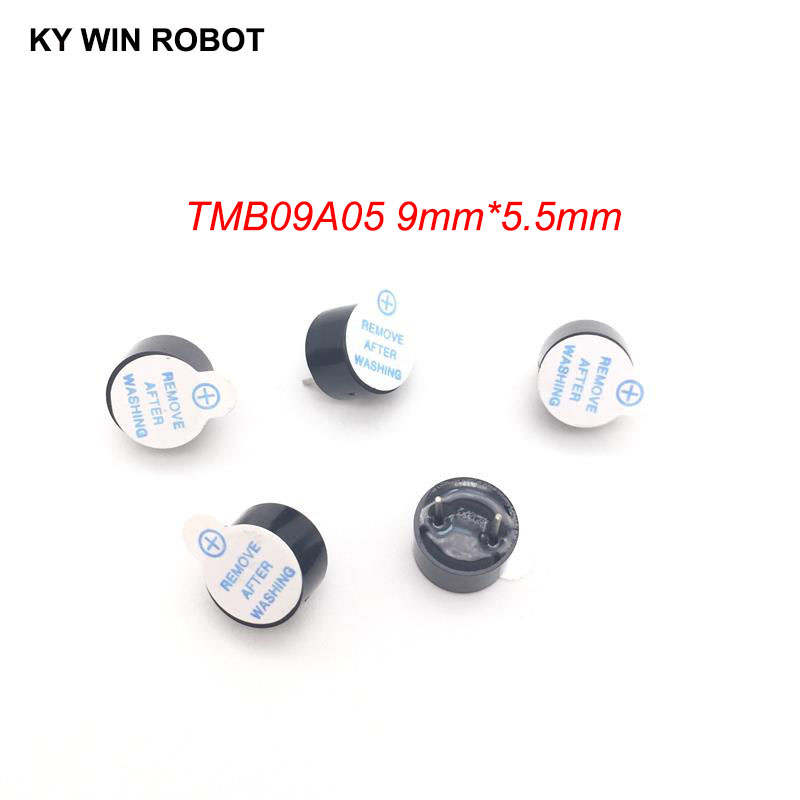[ Electronic Diy Kit ] 5V Active Buzzer Electromagnetic 9*5.5MM TMB09A05 Pitch 5mm (SOT Plastic Tube Length Acoustic )(5 Pieces)