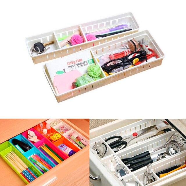 Useful Drawer Organizer Home Kitchen Board Divider Makeup Storage Box  Convenient Plastic Finishing Baskets Adjustable Office