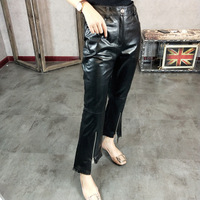 New Leather Slim Leather Pants