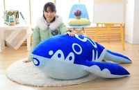 new arrival stuffed plush toy huge 140cm carton blue whale doll soft sleeping pillow Christmas gift b0598