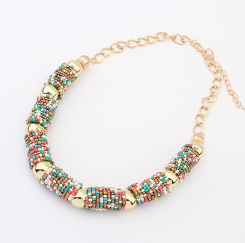 2015 Women Chokers Necklace Handmade Bead Necklaces Bohemia Statement Necklace Jewelry Trends For Gift Party Wedding Ожерелье