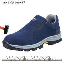 Size 38-45 Men Safety Shoes Steel Toe Anti-smashing 2019 Casual Breathable anti-puncture slip Men's Labor work safety Boots антиполицай уайт 6 табл