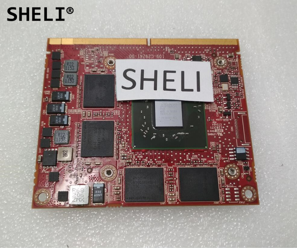 SHELI HD6770M HD 6770M M5950 216-0810001 DDR5 1GB MXM A VGA Video Card For D e L L M4600 M5950 6700M CN-0P4R8T