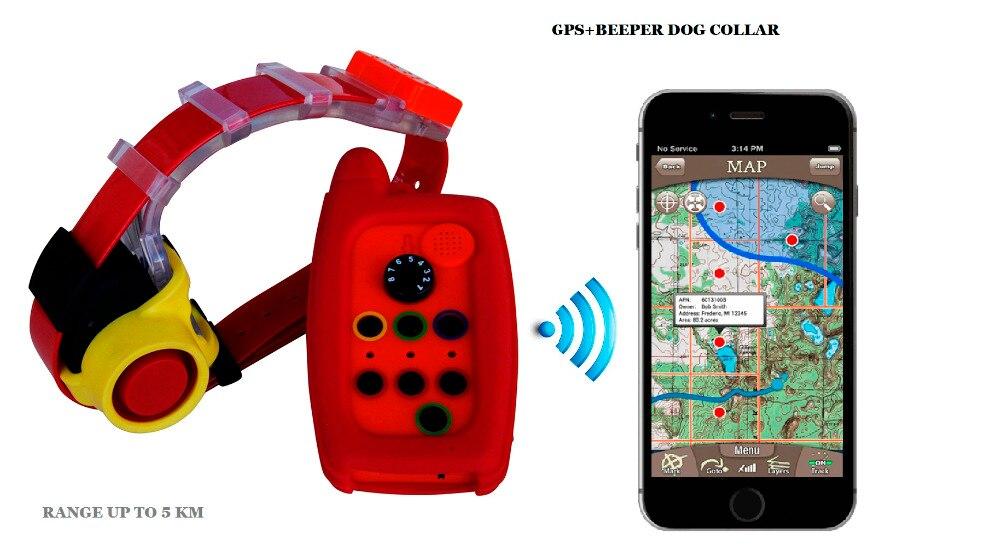 BIP DE CHIEN IMPERMÉABLE COLLIER ET GPS TRACKER COL 2 EN 1 POUR CHIEN DE CHASSE