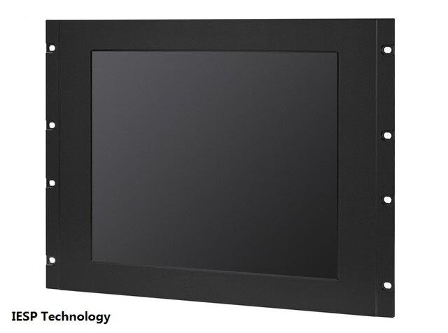 "19 inch Rack mount industrial panel PC, i3-3217U/4GB/500GB HDD, 5COM/4USB/GLAN, 17"" LCD, 5-wire touchscreen, 8RU rack panel pc"