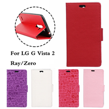 Luxury Case For LG Class Zero F620 H650 H650e / LG Ray / G Vista 2 Phone With Stand Wallet PU Leather Flip Cover Bags Skin Cases