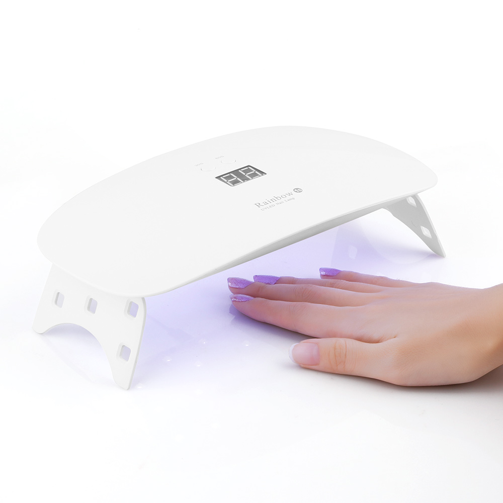 18W UV LED 15 Lights Nail Dryer Curing Lamp for Gel Based Polishes Nail Art Professional Phototherapy Manicure Pedicure Salon ...