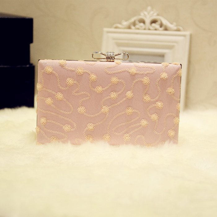 2018 Mini Square Chain Bag with Sequined and Lace, Messenger Bag, Chain Bag sequin detail chain bag