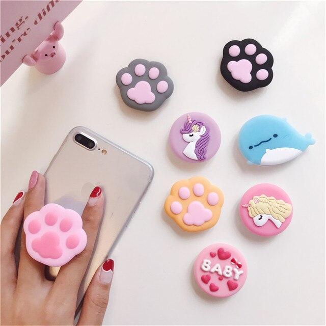 Держатель для телефона 3D кольцо база ручка подставка палец популярная расширяющаяся подставка поддержка пальцев мобильный мультфильм милый для iphone xiaomi