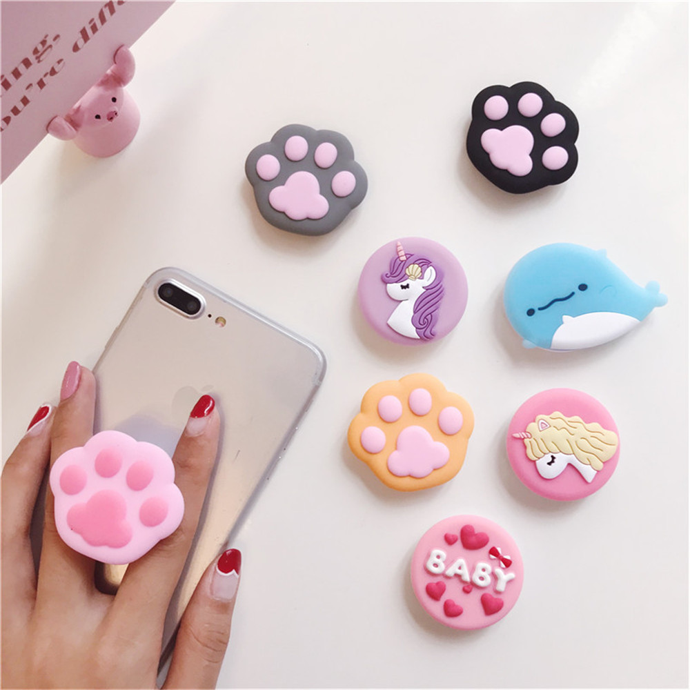 Phone Holder 3D Ring Base Grip Stand Finger Popular Expanding Stand Finger Support Mobile Cartoon Cute For Iphone Xiaomi