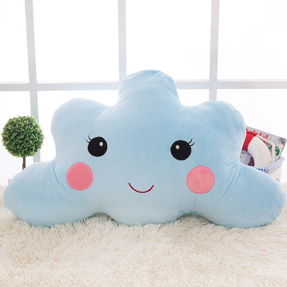 Baby Pillow Clouds Smile Cushion Baby Room Decor Children Play Sleeping Cushion Baby Head Protection Nursing Feeding Pillow