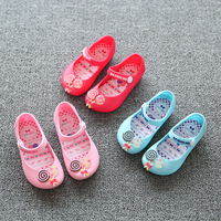 New Mini Sed Sandals Summer Sandals Jelly Shoes Toddler Girls Cartoon Candy Soft Bottom Fish Head