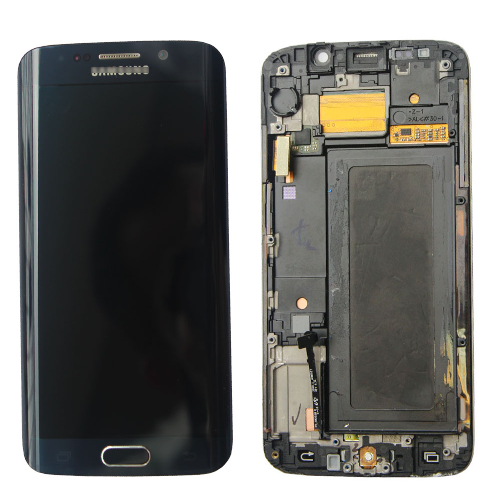 FOR Samsung Galaxy S6 edge G925A LCD Display Screen Touch Digitizer + Frame replacement pantalla parts factory price lcd screen for samsung galaxy s6 edge lcd display touch screen digitizer g925f g925s g925p g925a free shipping