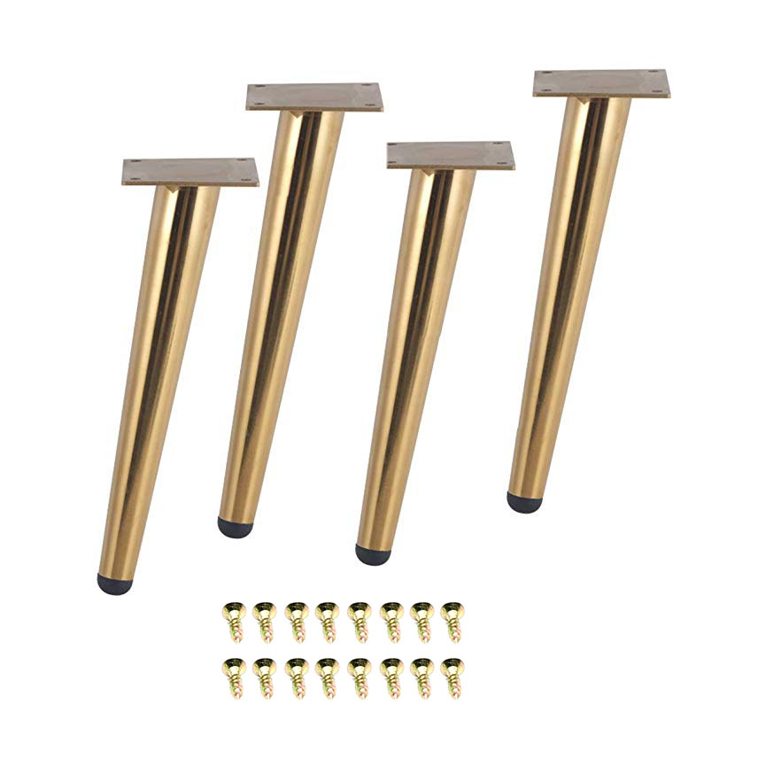 4Pcs/Set 15/20/25/30CM Furniture Table Legs Metal Tapered Sofa Cupboard Cabinet Couch Legs Feet  Stool Chair Leg Feet