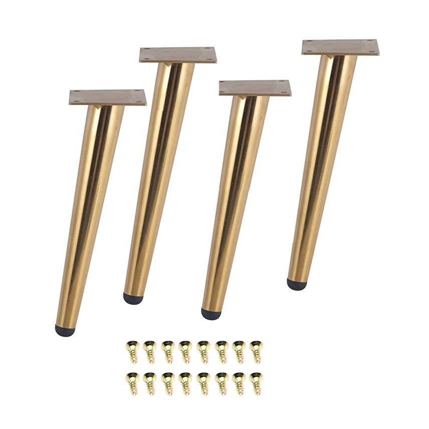 4Pcs/Set 15/20/25/30CM Furniture Table Legs Metal Tapered Sofa Cupboard Cabinet Couch Legs Feet  Stool Chair Leg Feet