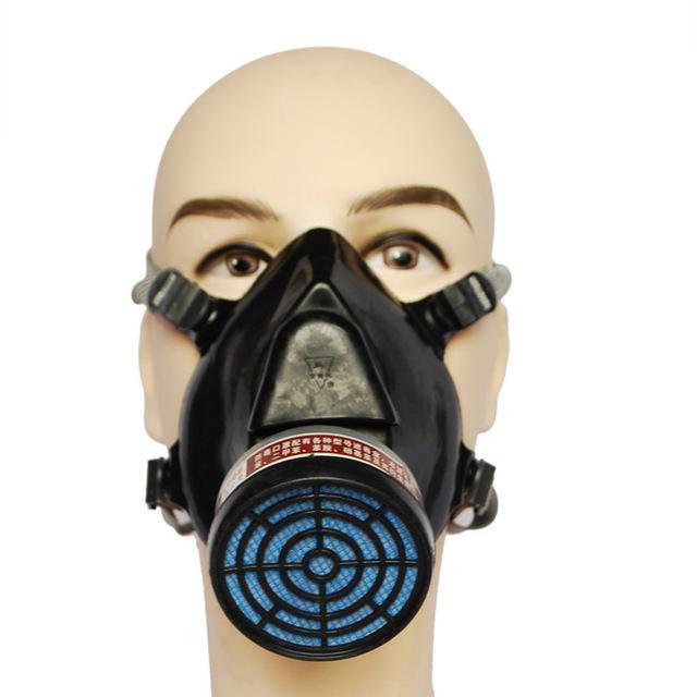 Máscara de filtro de carbón de silicona cinereus respirador gas mask paint pesticidas de alta calidad medio de seguridad máscara de esquí envío gratuito