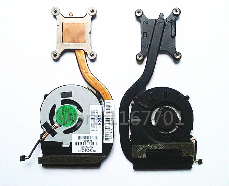 Laptop/Notebook CPU cooling Radiator Heatsink&Fan for <font><b>HP</b></font> Elitebook revolve <font><b>810</b></font> <font><b>G1</b></font> G2 810G1 720497-001 753716-001 60.4XF06.001 image