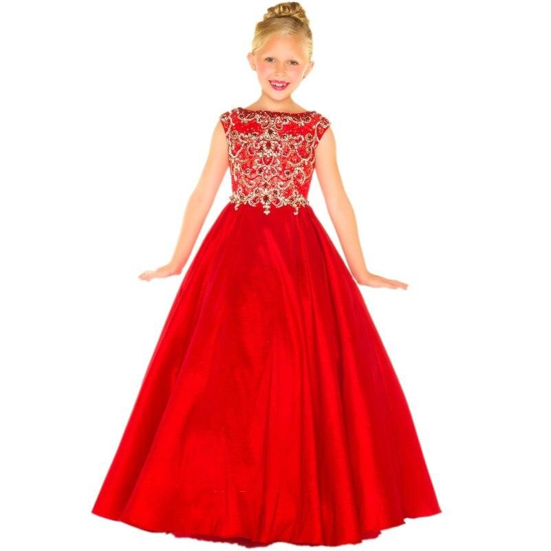 Vestidos rojos de graduacion para ninas
