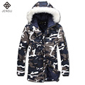 2016 Men Padded Coats Cotton-Padded Winter Jackets Veste Homme Parkas Men's Casual Fashion Slim Fit Hooded Camouflage Jackets