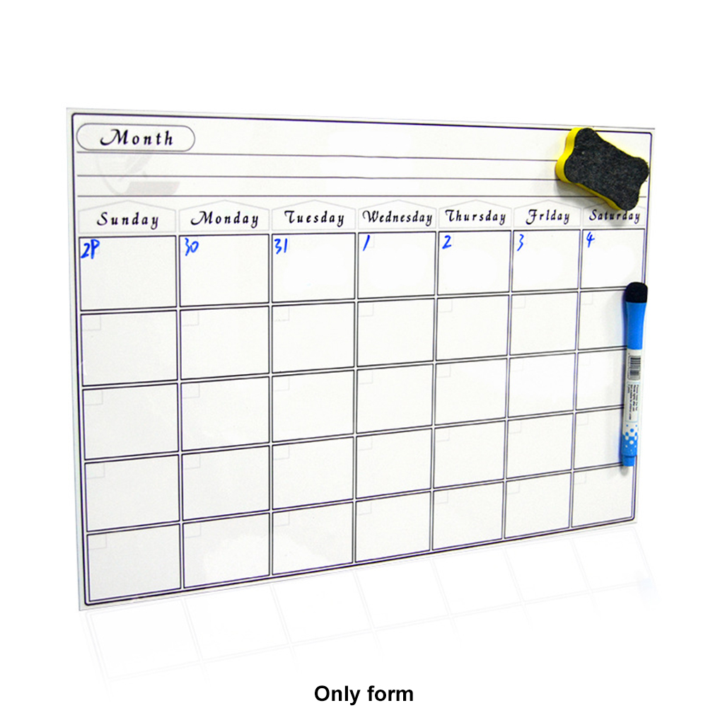 Calendar Kitchen Anti-stain Weekly Home Rewritable Month Daily Planner Practical Erasable For Fridge Memo Magnetic Whiteboard