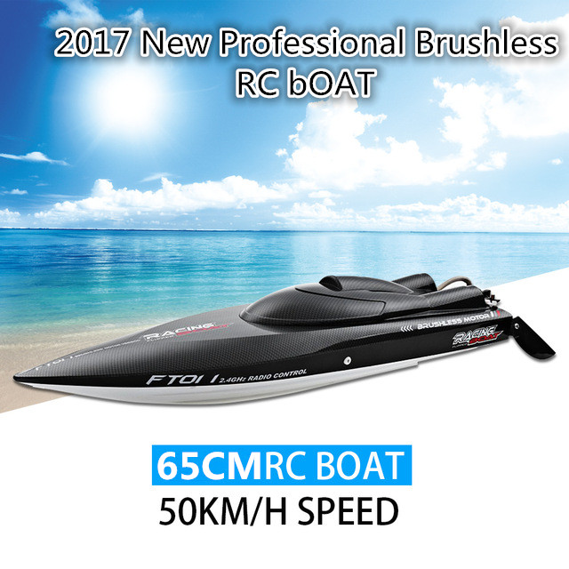 Новая летняя игрушка FT 011 65 см 2,4 г бесщеточный Профессиональный RC лодка высокоскоростная гоночная лодка с системой водяного охлаждения для