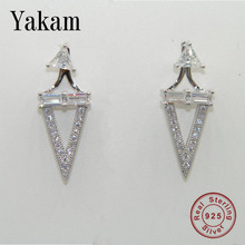 Shiny Korea 925 Sterling Silver Earrings for Women Clear Crystal Earring Nightclub Geometric Sexy Dangle Fashion Jewelry Gifts